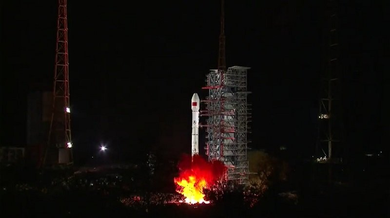 China launched a satellite repeater of new generation / VIDEO